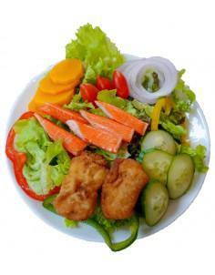 dolly fish And crab stick salad sea food cream dressing