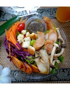 grill sausage Salad   balsamic dressing